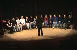 Stage hypnotism involves a live stage induction to hypnotize volunteers.