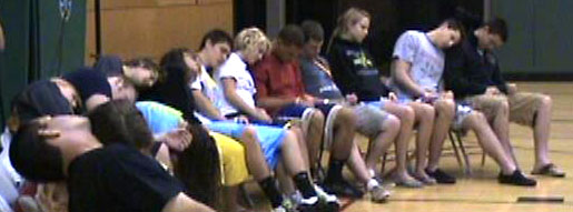 Hypnotized high school student volunteers receive powerful suggestions upon emerging from hypnosis. Results - greater energy, enhances focus for study habits and demonstrates powerful messages about the dangers of drug use.